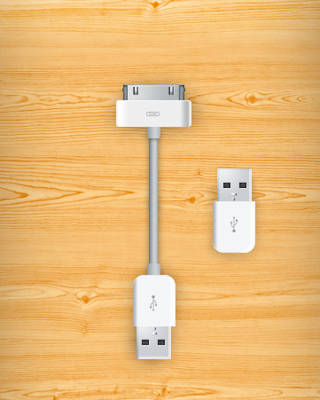 The Apple Charger USB psd layered material