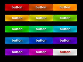 The button PSD material of the variety of colors