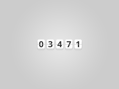 The countdown template counterpsd layered material