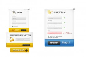 The delicate Web login interface   psd layered material