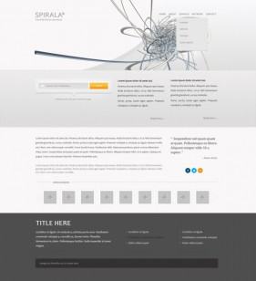 The exquisite foreign website templates 05 psd layered material