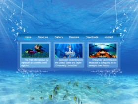 The undersea web site psd layered material