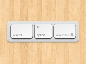 Apple keyboard button psd layered material