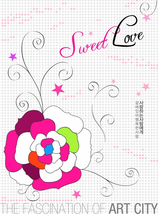 ArtCity hand painted flower PSD layered material  4