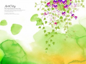 ArtCity hand painted flowers PSD