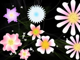 Beautiful flowers vector clip