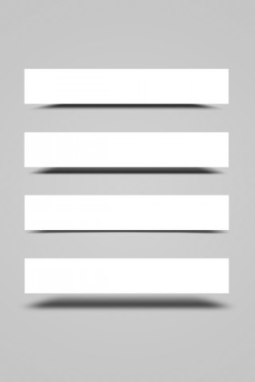 Blank banner psd layered material