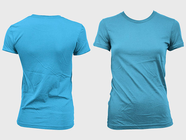 Blank trend of female models short sleeved t shirt template (GoMedia produced) psd layered material  3