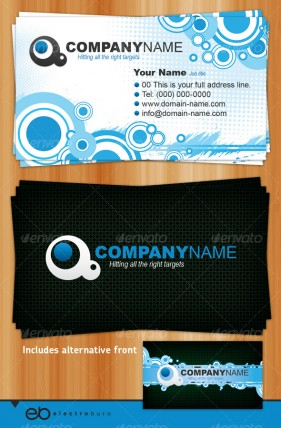 Brilliant business card template 2   Psd layered material