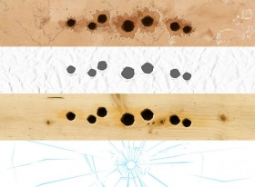 Bullet hole effect psd layered material