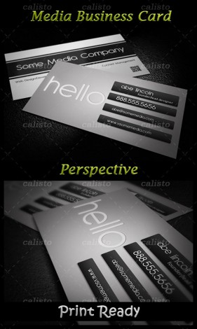 Business card display template psd material