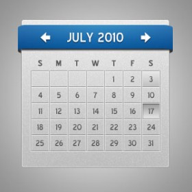 Calendar display psd material