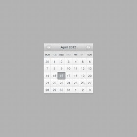 Calender web design2 Picssd layered material