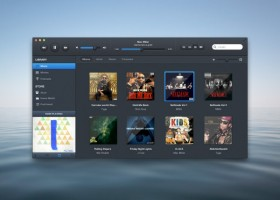 Dark itunes interface design