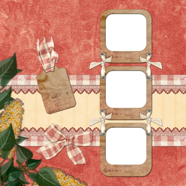 European and American collage style photo frame  4