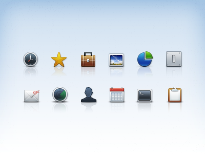 Exquisite icon psd layered material