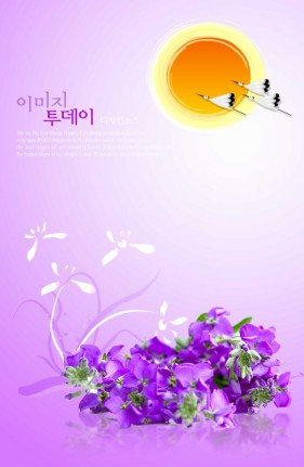 Flowers background PSD layered material  13