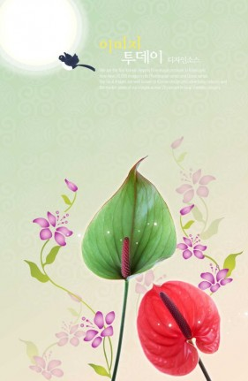 Flowers background PSD layered material  14