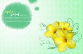 Flowers background PSD layered material  2