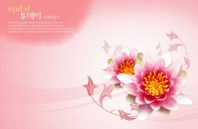 Flowers background PSD layered material  5