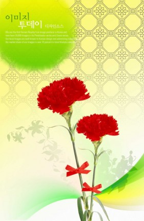 Flowers background PSD layered material  6