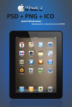 IPad2 Black PSD PNG ICO hyperfine iPad2 layered PSD material