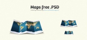 Origami map psd layered material