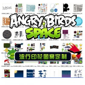 The Angry Birds space version of the game set material