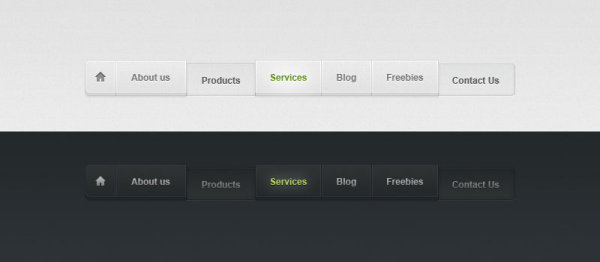 The delicate navigation bar button psd layered material