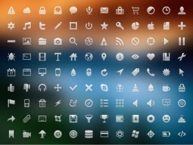 The exquisite small icon psd layered material