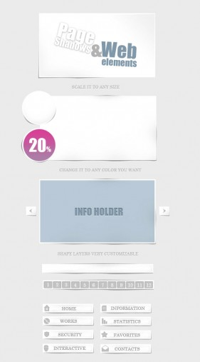 Web design elements psd material