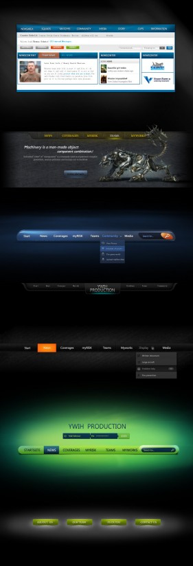 Web interface psd layered material