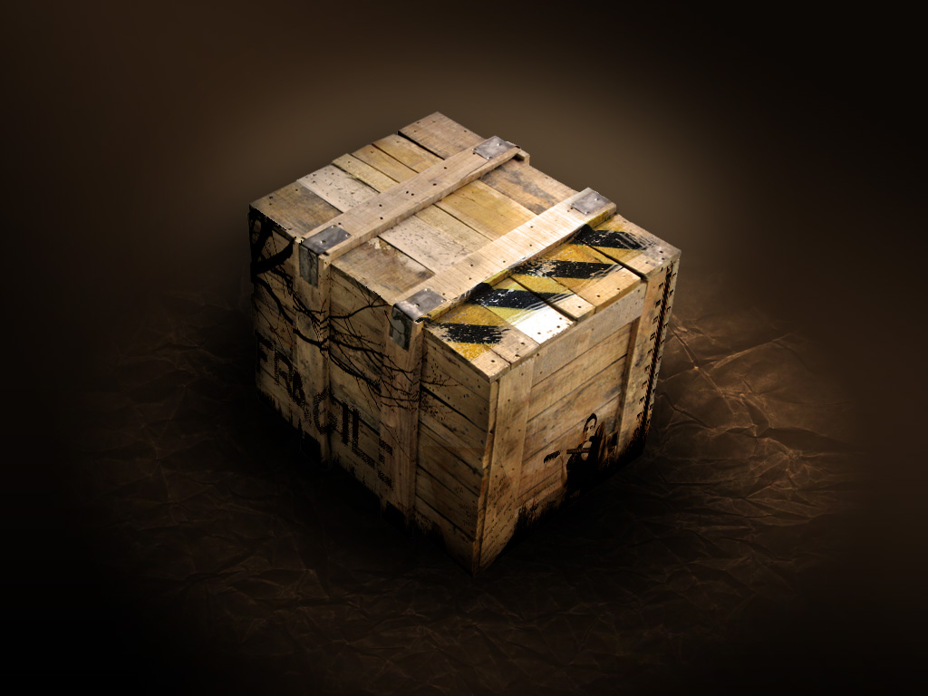 Crate psd layered material