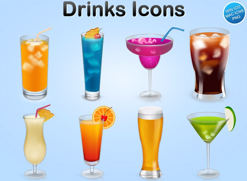 6 exquisite drinks icon (Drinks)
