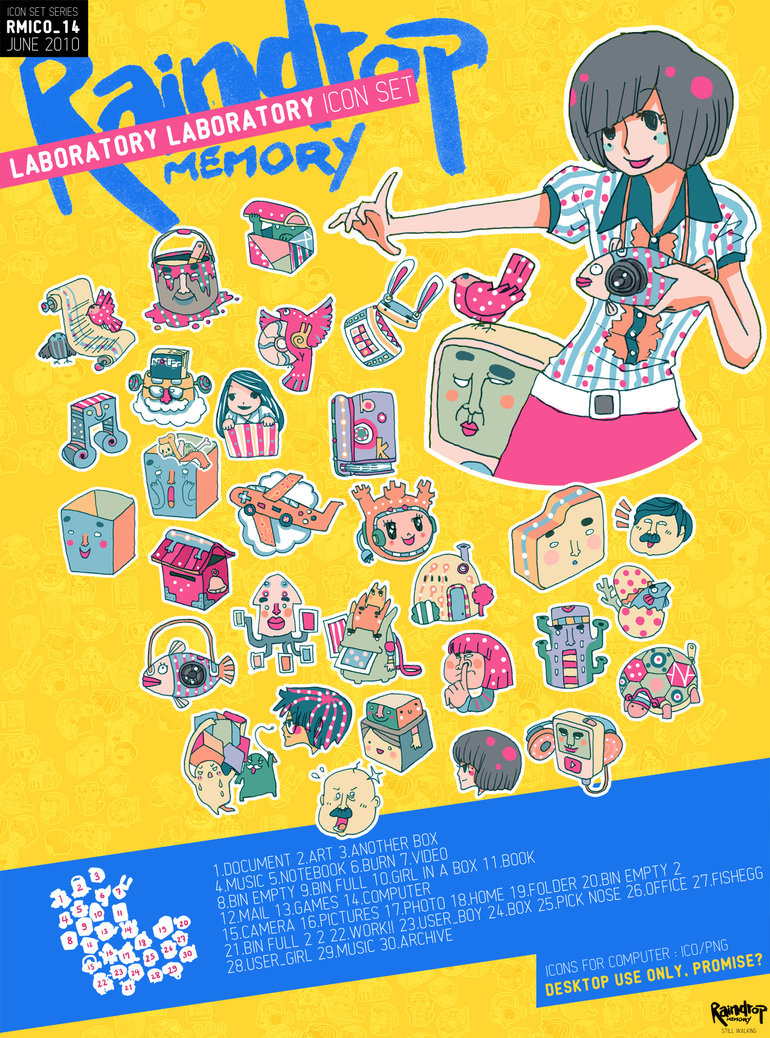 Bangkok designer Raindropmemory Funny picture book style icons