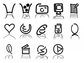 Black lines composed of graphical icons png