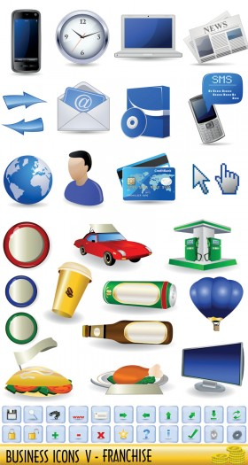 Business icons   vector material