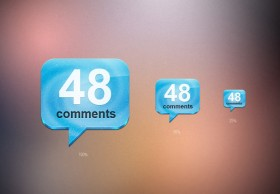 Comments icon PSD layered material
