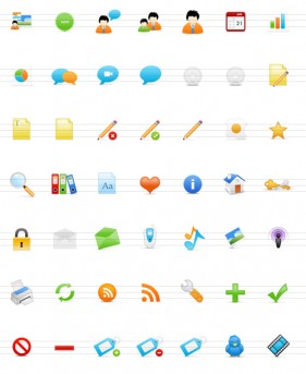 Commonly used web icons