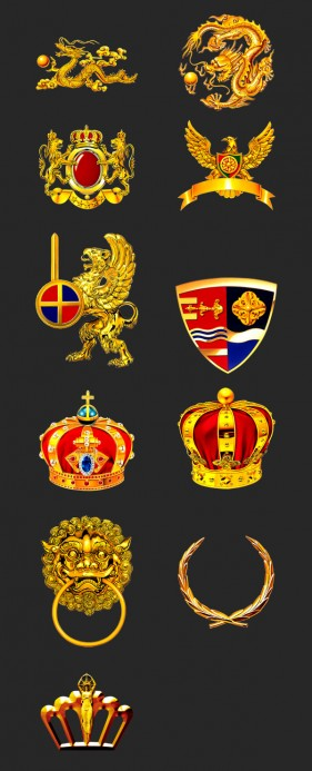 Continental the golden badge Crown icon material