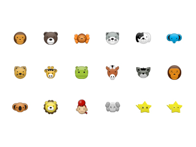 Cute animal avatar small icon png