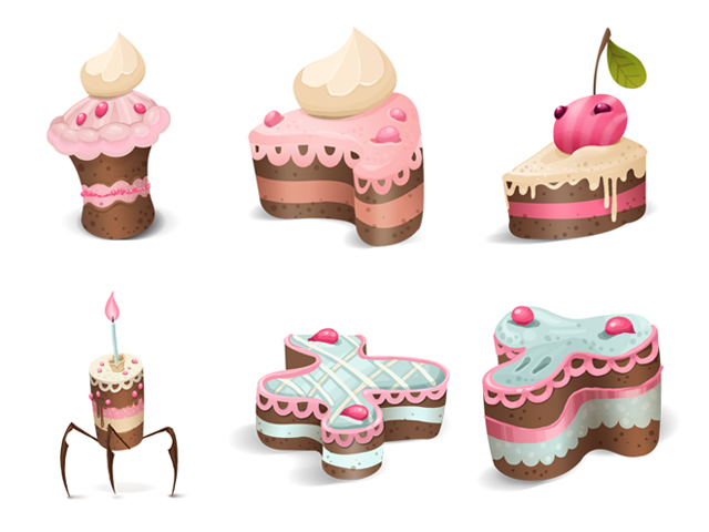 Cute cake theme icon png