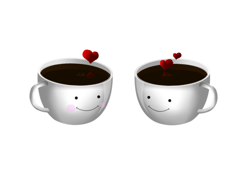 Cute coffee cup icon png