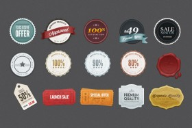 Exquisite label psd layered material