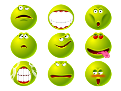 Green spoof expression transparent PNG icon