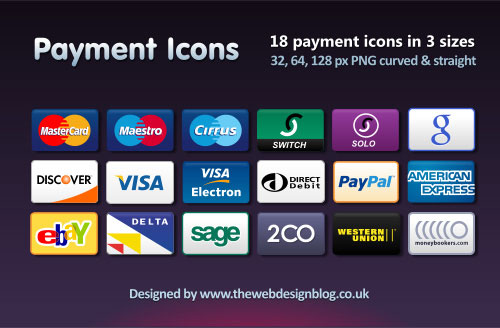 Network commonly used payment ways png icon