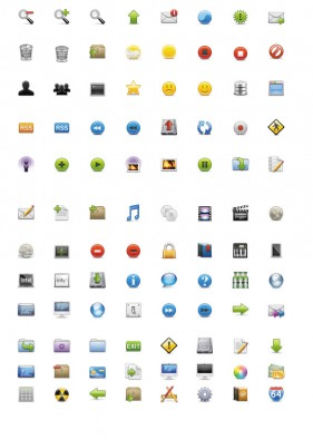 Practical web icon material