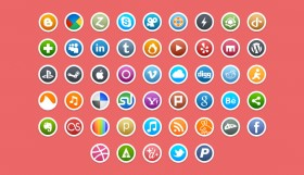 Social network media PNG icon