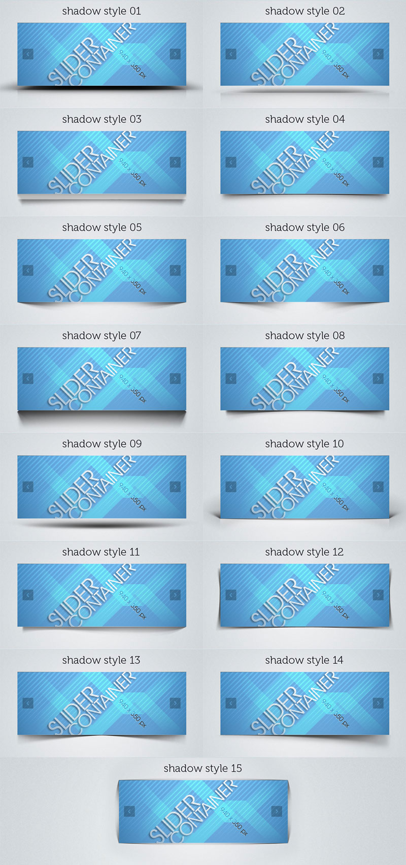 The blue card Banners psd layered material