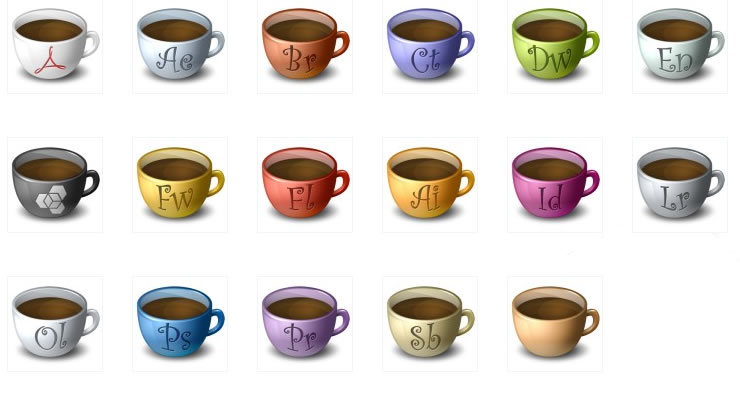 The classic the coffee mugs desktop icons (PNG ICO)